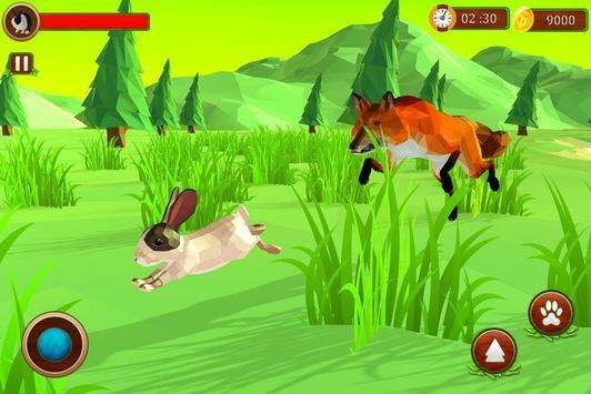 Rabbit Simulator Poly Art Adventure screenshot 2