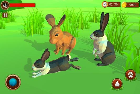 Rabbit Simulator Poly Art Adventure screenshot 4