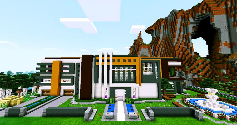. Super Mansion Modern House Maps for Minecraft PE for Android   APK