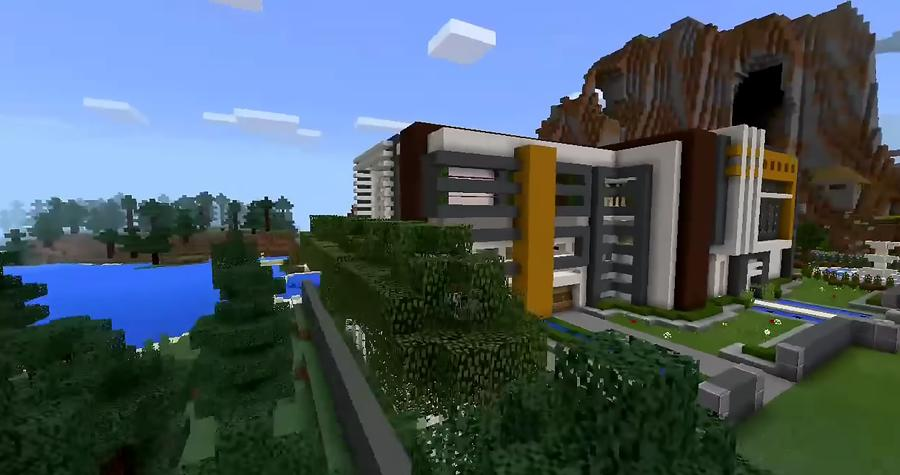Super Mansion Modern House Maps For Minecraft Pe For Android