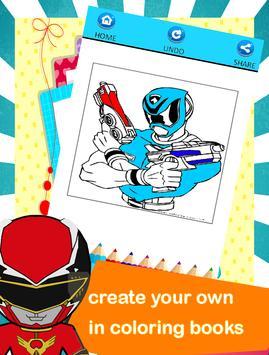 Hero Rangers Coloring Book screenshot 2