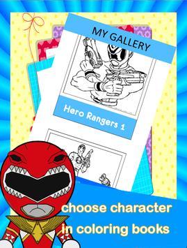 Hero Rangers Coloring Book screenshot 5