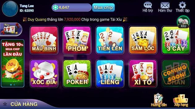 Xeng club - Game bai doi thuong hoang gia 2018 screenshot 8