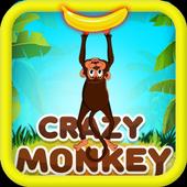 Crazy Monkey Free Banana Feed Game icon