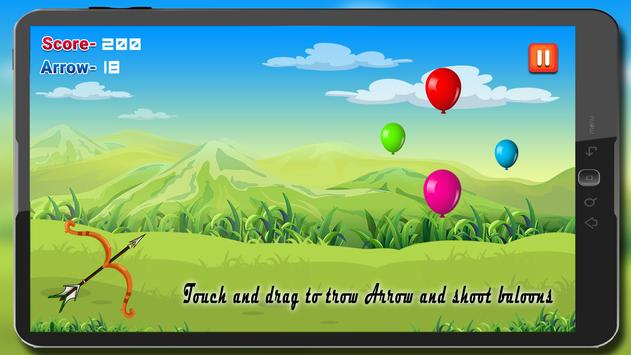 Archery Balloon Shooting Free Bubble Shoot Game poster