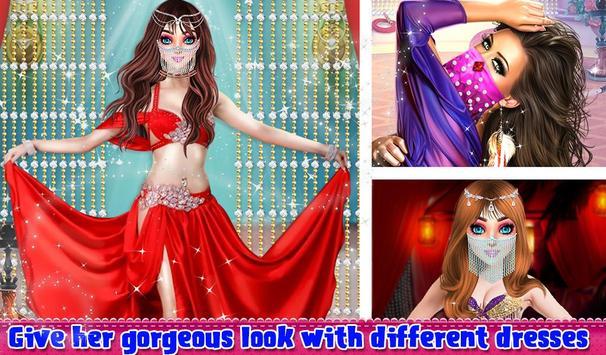 Beautiful Belly Dancer Girl Salon Stylish Dressup apk screenshot