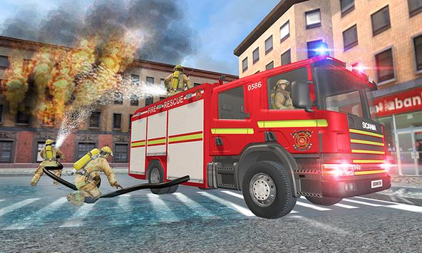 American FireFighter Truck Simulator Rescue 2018 screenshot 3