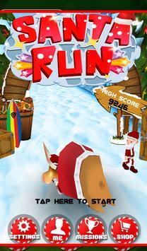Santa running Dash Adventure poster