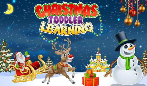 Christmas Toddler Learning poster