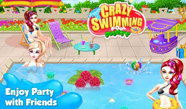 crazy swimming pool party poster - Crazy Swimming Pools