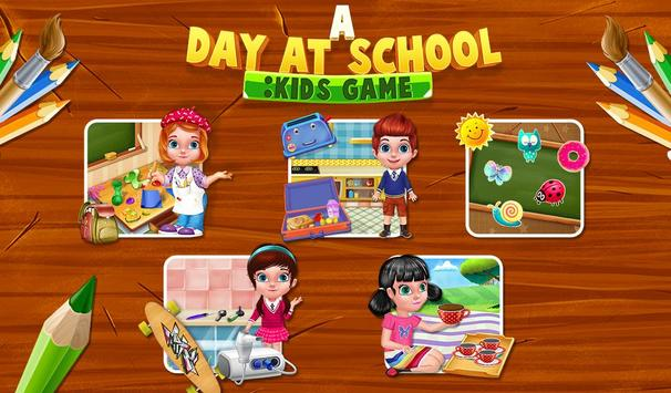 A Day At School : Kids Game poster