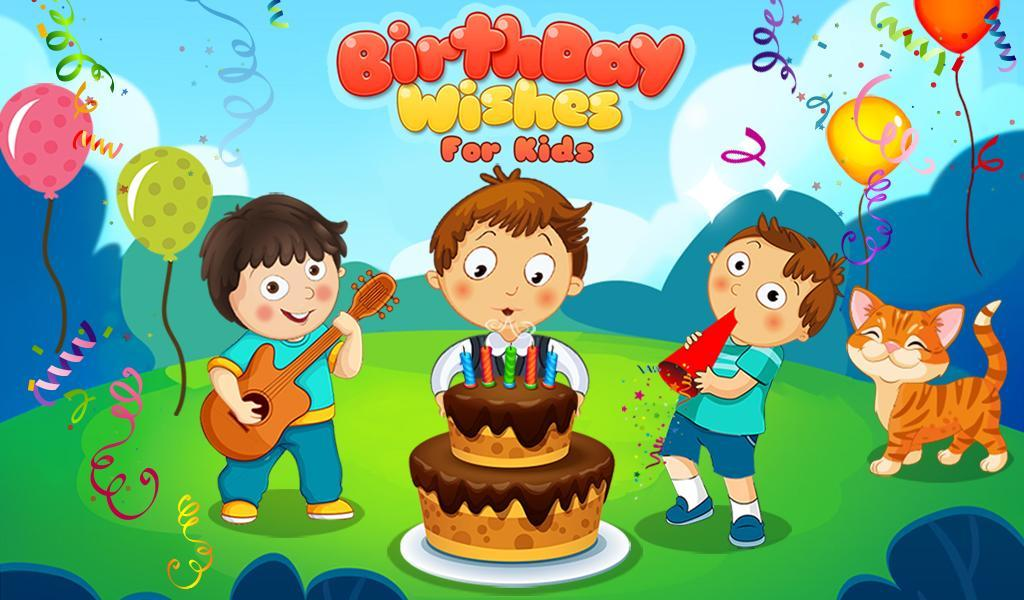 Birthday Wishes For Kids Poster