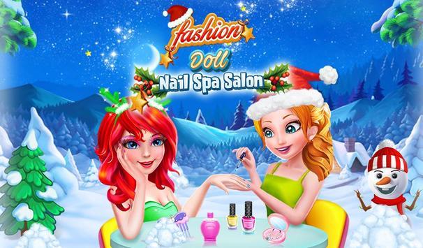 Fashion Doll Nail Spa Salon poster
