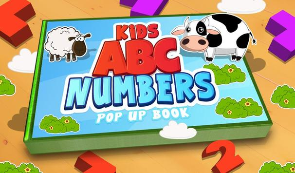 Kids ABC Numbers Pop Up Book poster