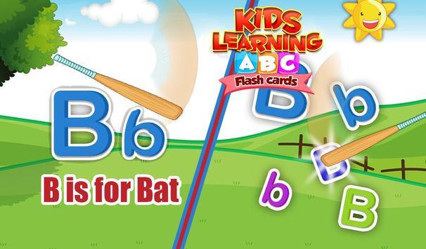 Kids Learning ABC Flash Cards screenshot 1