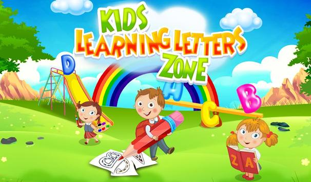 Kids Learning Letters Zone poster