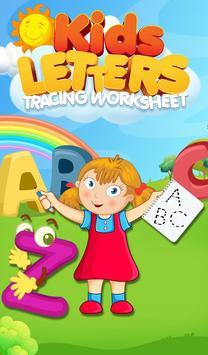 Kids Letters Tracing Worksheet poster
