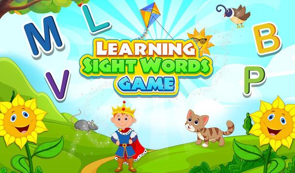 Learning Sight Words Game poster