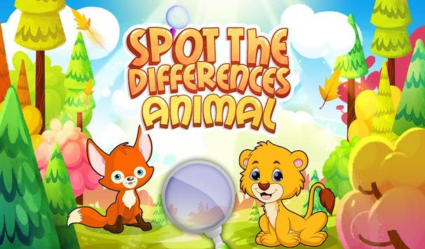 Spot The Differences Animal poster