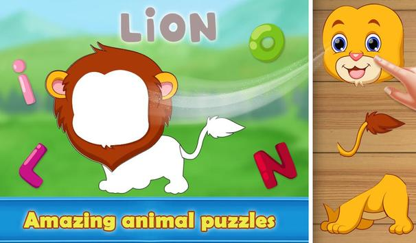 Preschool Zoo Puzzles For Kids poster