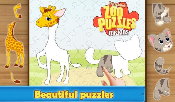 Preschool Zoo Puzzles For Kids screenshot 1