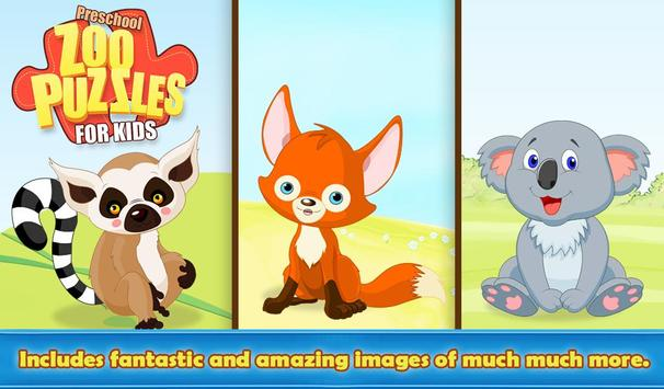 Preschool Zoo Puzzles For Kids screenshot 3