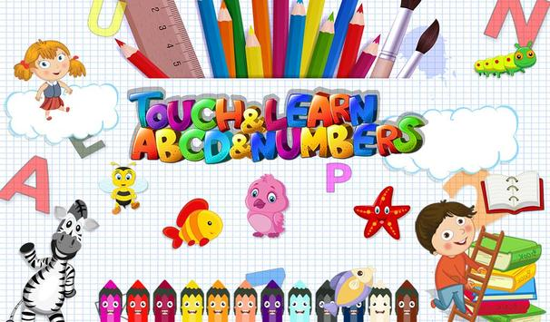 Touch & Learn ABCD & Numbers poster