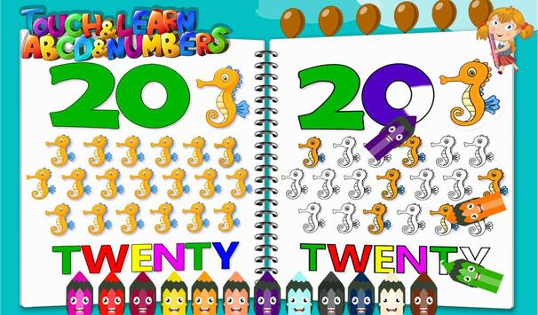 Touch & Learn ABCD & Numbers apk screenshot