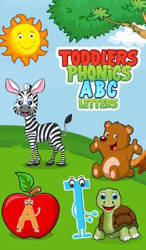 Toddlers Phonics ABC Letters poster