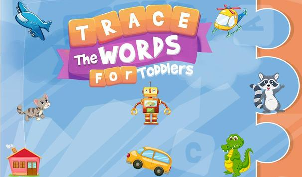 Trace The Words For Toddlers poster