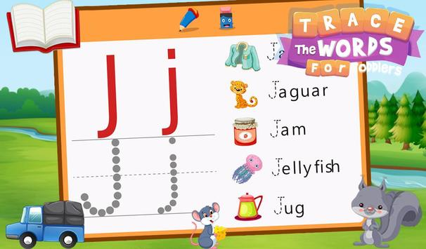 Trace The Words For Toddlers screenshot 11