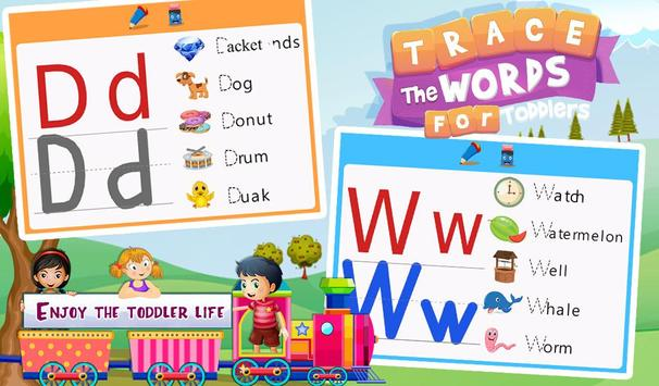 Trace The Words For Toddlers screenshot 8