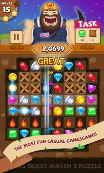 Jewels Quest-Match 3 Puzzle apk screenshot
