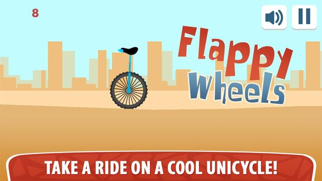 Flappy Wheels - Unicycle poster
