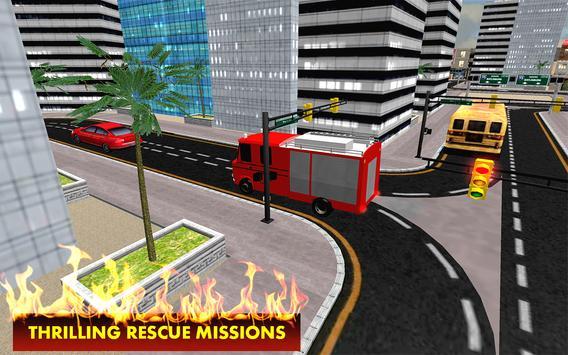 911 City Fire Rescue 3D apk screenshot