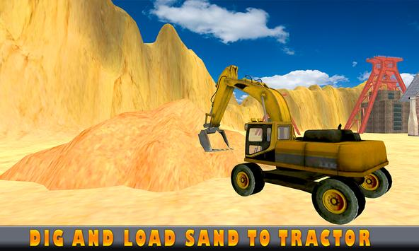Sand Excavator Tractor  Simulator 2018 screenshot 3