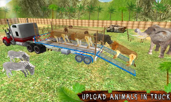Transport Truck Zoo Animals poster