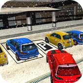 Snow Smart Classic Car Parking 3D Hard icon