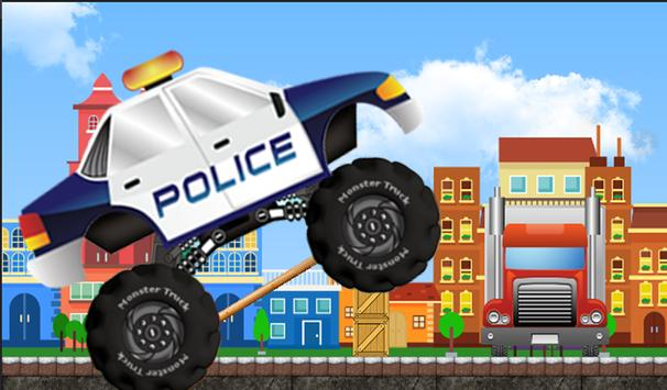 Police Monster Truck Racing poster
