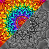 Mandala Sandbox Color By Number Book Pixel Art ikona