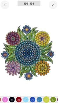 Mandala Sandbox Color By Number Book Pixel Art постер