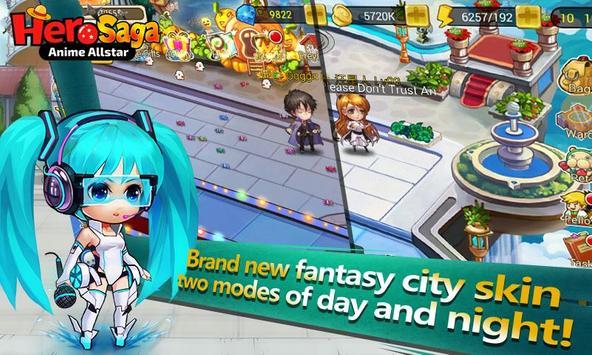 Hero Saga - Anime Melee Game apk screenshot
