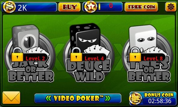Video Poker™-Poker Casino Game apk screenshot