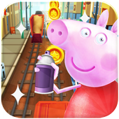 Subway Pig Adventure Pepa icon