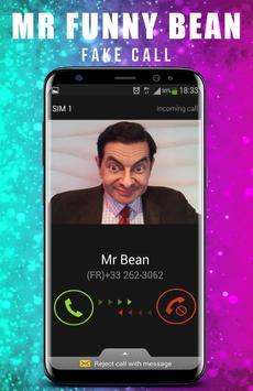 Fake Call From Mr Funny Bean apk screenshot