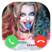 Fake Call From Hot Harley quin icon
