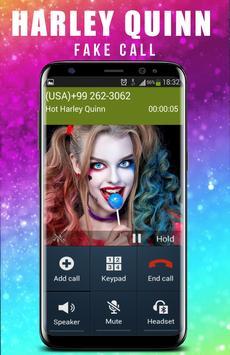 Fake Call From Hot Harley quin apk screenshot