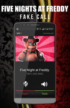 Fake Call Freddy Farce apk screenshot