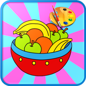 Cute Fruit Coloring icon