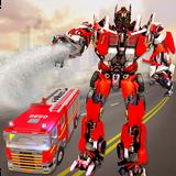 Robot Transformation Fire Truck: Real Robot Wars